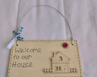 Handmade Home Plaque