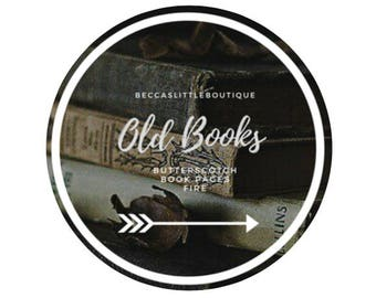 Old Books | 4 oz Bookish Inspired Candle | book, currently reading, gift ideas, harry potter, book nerd, literature, read