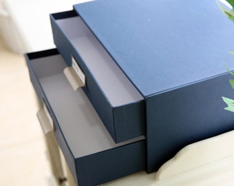 1 X Paper Drawer Box / Slider Box / Office Decor / Desk Organizer / Office