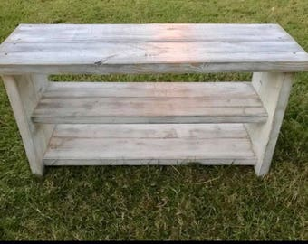 Shoe bench / entryway bench / farmhouse bench *Local pickup only* Made to order