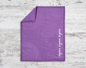 TriSigma Sigma Sigma Sigma Script Sweatshirt Blanket Throw Greek Licensed Sorority Gift