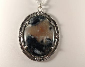 Montana Moss Agate Sterling Silver Pendant