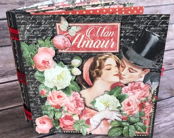 G45 Mon Amour - Romantic 5 x 5 Policy Envelope Album Class Kit