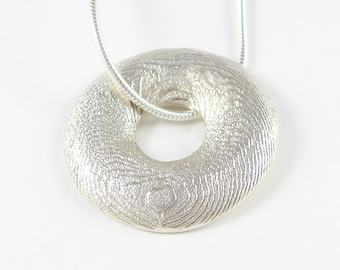Circles of the sea, sterling silver pendant (large)