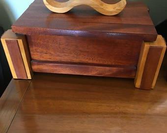 Hardwood mixed wood box