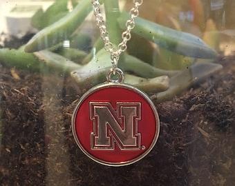 University of Nebraska jewelry, Cornhuskers necklace, college necklace, college jewelry