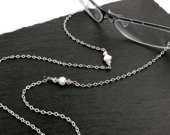 925 Silver Eyeglass Chain, Eyeglass Necklace, Eyeglass Lanyard, Eyeglass Holder, Eyeglass Leash, Gift For Her, Mom Gift, EC015