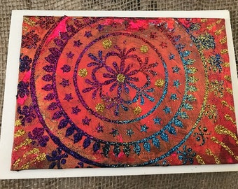 Rangoli Painting/Postcard on Canvas Board #16
