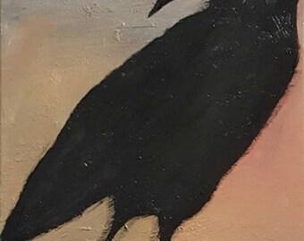 A Colored Raven Original Art Painting