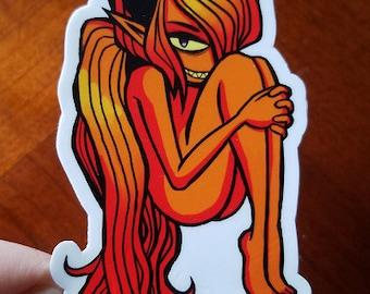 Orange Demon - Vinyl Sticker
