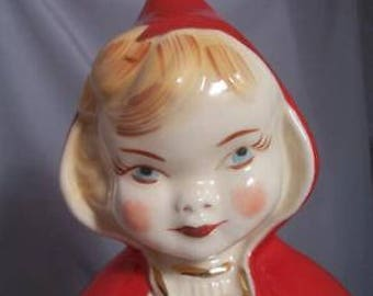Vintage Hull Pottery Little Red Riding Hood LID ONLY for cookie jar