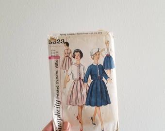 Vintage 1960's Dress and Jacket Pattern Simplicity 3823