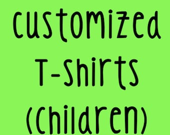 Customized Children's T-shirts