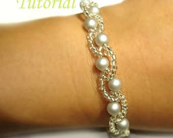 Beading Tutorial - Beaded Barely Wavy Bracelet Pattern
