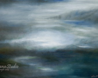 Celestial Sea - Large Gallery Wrapped Canvas Print of Original Oil Painting  20X30