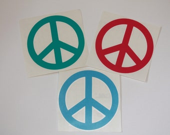 Peace Sign Decal - Car Sticker, Peace Sign Sticker, Peace Sign Car Sticker, Peace Sign Car Decal