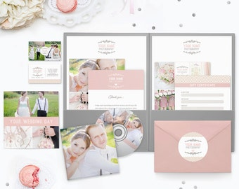 Wedding Photography Marketing, Photography Marketing Set, Photography Marketing Kit, Photography Marketing Template for Photoshop - MK136A