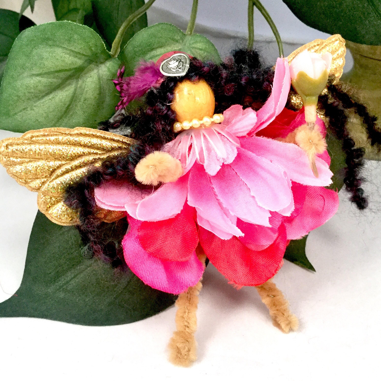 Elegant Winged Pink Flower Fairy
