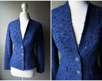 Vintage Tufted Blue Jacket