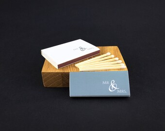 Set of 50 Mr&Mrs Matchboxes * Personalized Matches * Wedding Matches * Custom Matches * Personalized Matchbox * Wedding Matchbox * Best