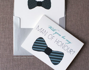 Will You Be My Man of Honor Card / Best Man / Will You Be My Groomsman / Be My Usher / Will You Be My Groomsman - Wedding Invitation for Men