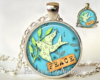 Inspirational Her,Inspirational Quote Necklace,Inspirational Necklace,Encouragement Necklace,Inspiring,Quote Pendant,Peace,,Gift