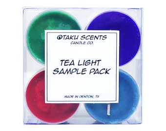 Tea Light Sample Pack - Scented Soy Anime Candles