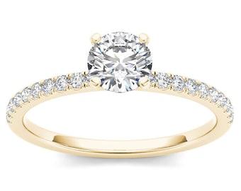14Kt Yellow Gold 0.75 Ct Diamond Classic Engagement Ring