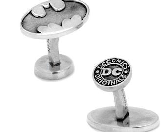 Sterling Silver Batman Cufflinks