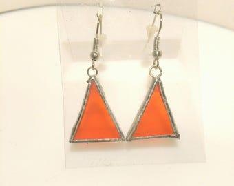 orange stained glass (ref:bo3) earring