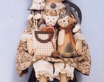 Primitive PATTERN Aunti Felinie and Her Furry Friends