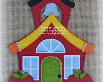 School House Premade Scrapbooking Embellishment Paper Piecing