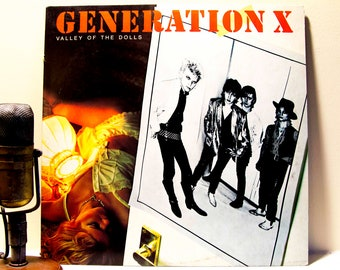 "Vinyl Record Album LP 1970s Punk Vinyl Generation X (w/Billy Idol) ""Valley of the Dolls"" (1984 Chrysalis re-issue)"