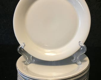 "Set of Ten (10) TWA 8 1/2"" Dinner Plates"