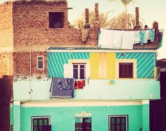Home - Egypt photograph, travel photography, fine art photo, cheerful, exotic, Egyptian decor, Africa wall art