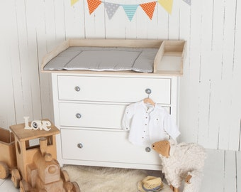 XXL Natural wood! Changer, Changing table top, for IKEA Hemnes drawer (without dresser)