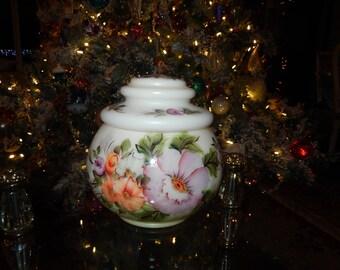 MILK GLASS COOKIE Jar with Lid