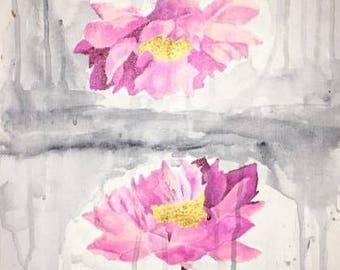 Watercolor Flower Mirror