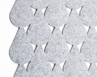 Bath Mat / Droplets / Polyester Felt / Kitchen mat / Nordic design