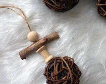 Jouet pour lapin en bois et osier