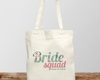 Personalized Bride Squad Canvas Tote -pgs8102972