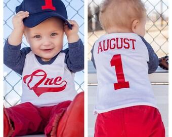 Baseball 1st birthday shirt, boys birthday shirt, baseball jersey, baseball birthday shirt, baseball party, first birthday shirt