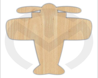 Unfinished Wood Airplane Laser Cutout, Wreath Accent, Door Hanger, Ready to Paint & Personalize, Various Sizes