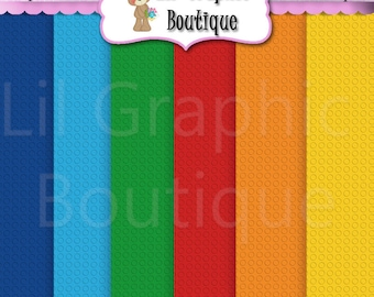 """Let's Build Digital Background Papers ~ Graphics Personal & Commercial Use Scrapbooking JPG Clipart Cardmaking printables lego 12""""x12"""""""