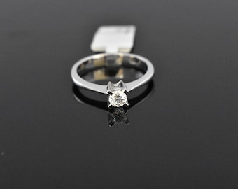 18K White Gold Diamond Solitaire | GIA Certified Diamond | Engagement Ring | Wedding Ring | Handmade Fine Jewelry | Bridal Ring