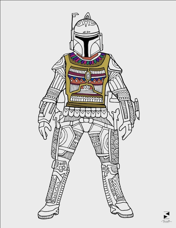 Star wars coloring pages boba fett printable adult coloring pages star wars coloring book coloring sheets star wars gifts coloring