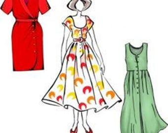 How To Make Your Own Custom Fit Misses Size Dress Patterns - PDF downloadable pattern making class