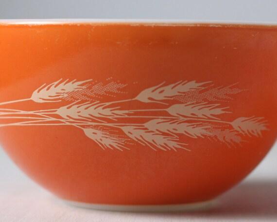 Vintage Pyrex Autumn Harvest Small Cinderella Bowl Orange