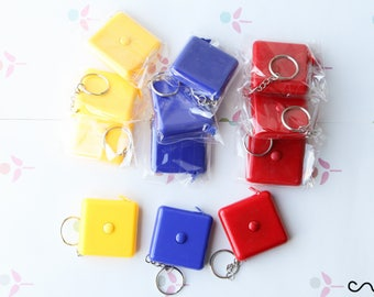 NEW 12 x Retractable Pocket Sewing Tape Measure Key Ring 150cm [Only Metric]