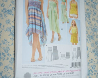 Burda 6651 BUrda Young Dress Top anf Skirt Sewing Pattern - UNCUT - Size 8 - 18
